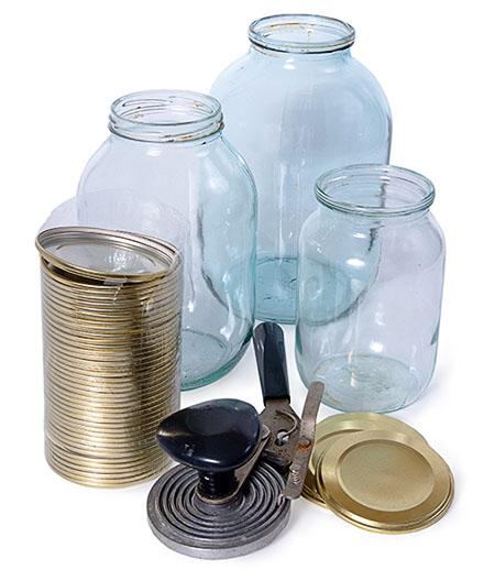 Стеклянные банки для консервирования продуктов