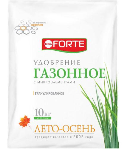 Осеннее удобрения для газона BonaForte