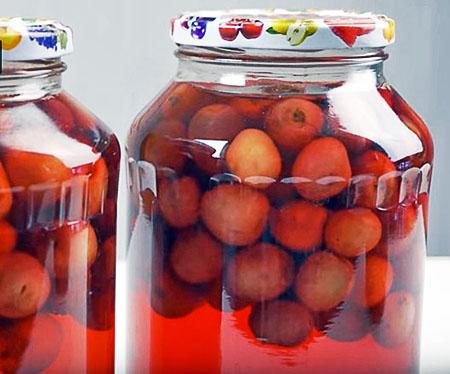 Заготовки из вишни. Вишневый компот