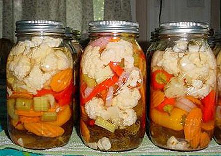 Маринованое овощное ассорти. Заготовки на зиму
