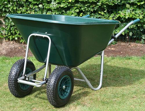 Садовая тачка с двумя колесами