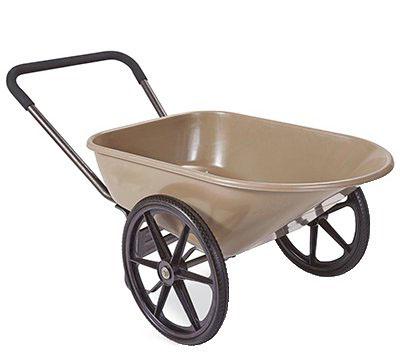 Садовая тачка с крупными колесами