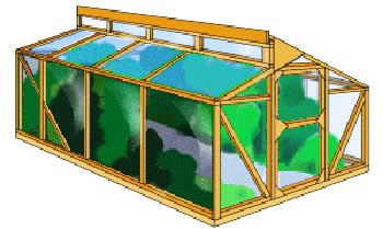 Конструкция легкой теплицы для сада