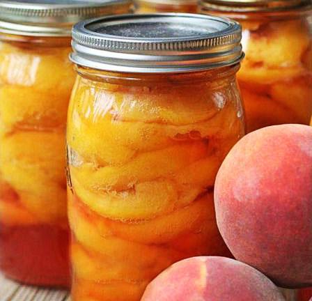 Заготовки из персиков