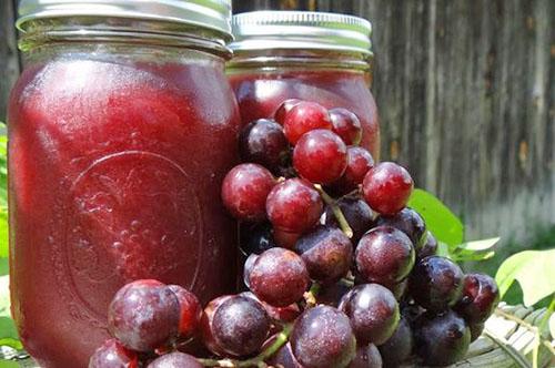 Заготовки из винограда. Виноградный джем