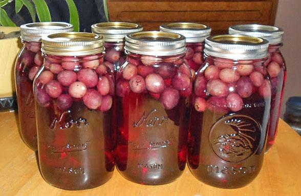 Заготовки из винограда. Виноградный компот в банках