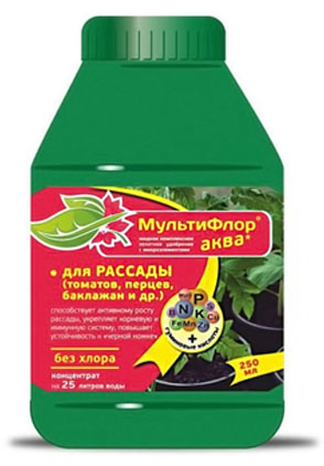 Препарат для подкормки растений «Мультифлор-Аква для рассады»