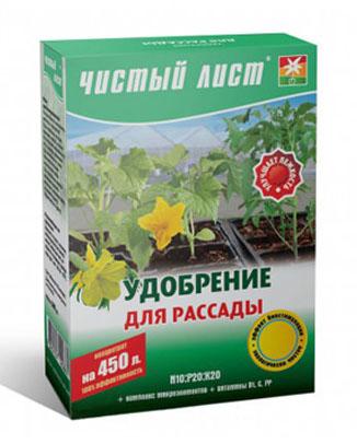 Препарат «Чистый лист — Удобрение для рассады»
