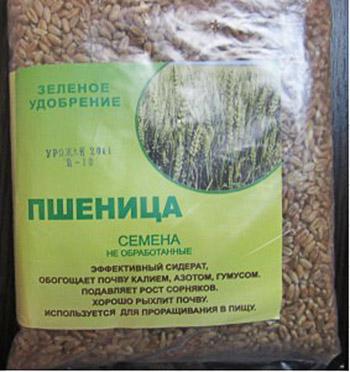 Упаковка семян пшеницы